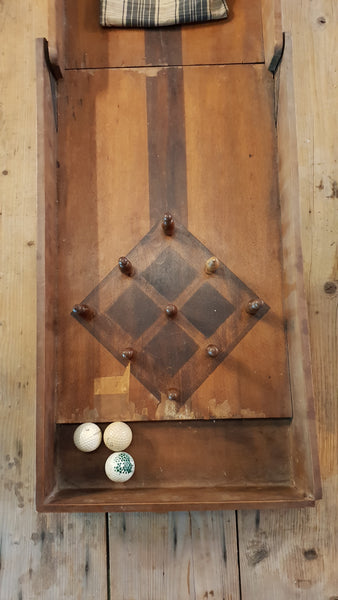 Timber Indoor Skittles Game - early 1900's