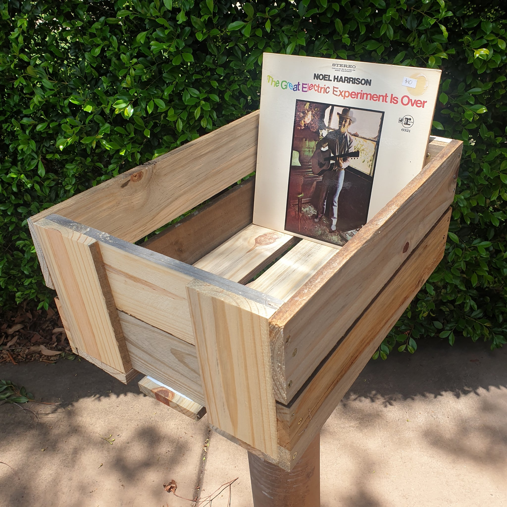 Handmade Wooden Record Crate - Unpainted - Holds over 80 LP's
