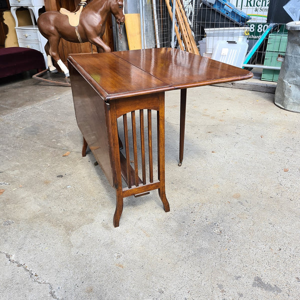 Antique English Oak Folding Wooden Table