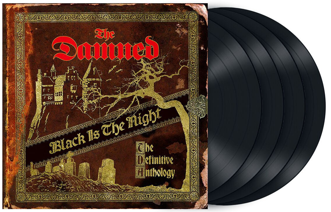 NEW - Damned (The), Black is the Night: The Definitive Collection 4LP (MDC)
