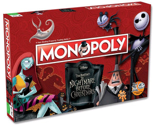 Monolopoly - Nightmare Before Christmas Board Game
