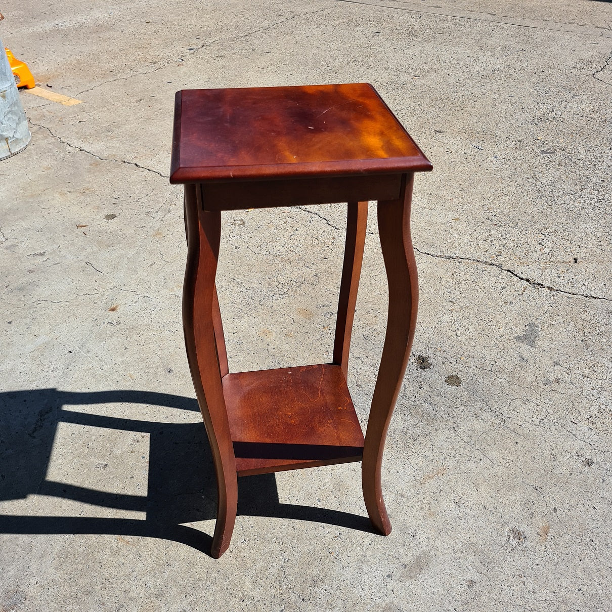 Retro Timber Pinth - 71cm Tall