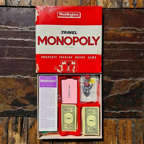 Vintage Waddington's Travel Monopoly