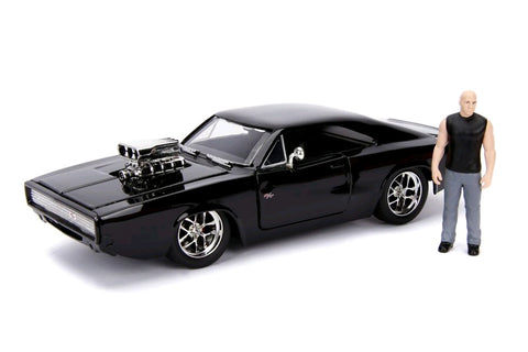 1970 Dodge Charger with Dom 1:24 Scale Diecast Car