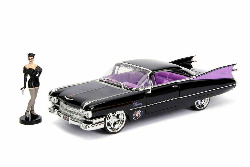Catwoman 1959 Cadillac 1:24 Scale Diecast Car