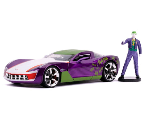 Batman - Joker 2009 Corvette 1:24 Scale Diecast Car