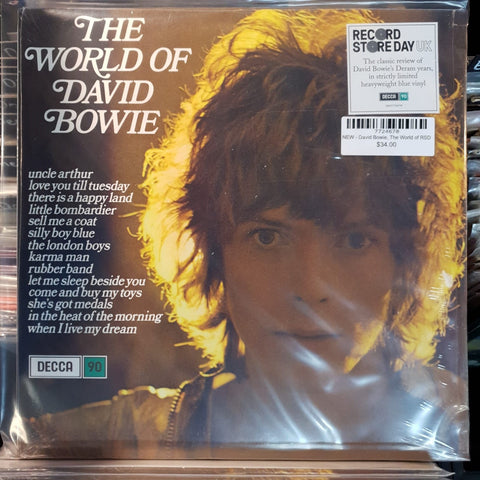 NEW - David Bowie, The World of David Bowie Blue Vinyl