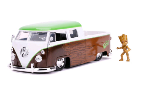 1962 Volkswagon Bus with Groot 1:24 Scale Diecast Car