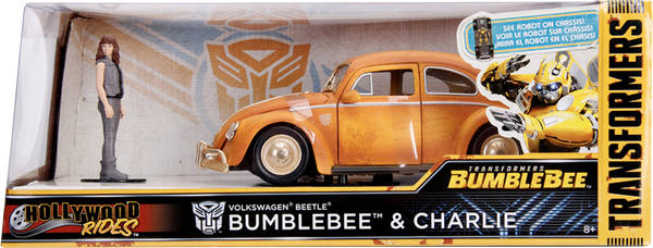 Transformers - 1971 Volkswagon Beetle Bumblebee 1:24 Scale Diecast Car