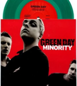 "NEW - Greenday, Minority 7"" (Green Vinyl)"
