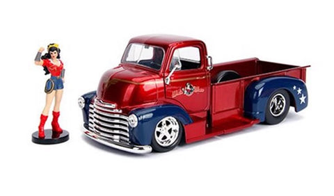 DC Bombshells - Wonder Woman Chevy Pickup 1:24 Scale Diecast Car