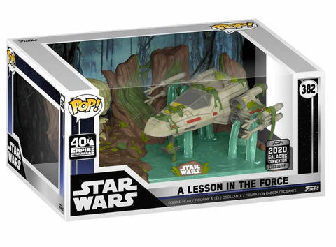 Yoda lifting X-Wing Star Wars Celebration US Exclusive Pop! Deluxe