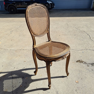 Gold Coloured  Rattan French Provincial Chair