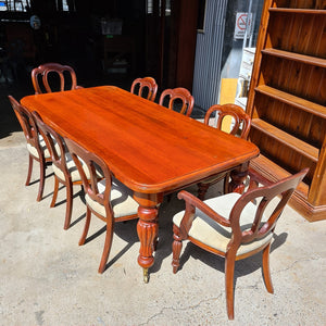 Large Italian Dining Table and Eight Chairs