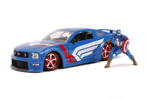 Captain America - 2006 Ford Mustang GT 1:24 Scale Diecast Car
