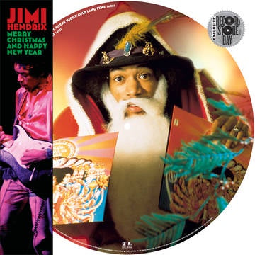 NEW - Jimi Hendrix, Merry Christmas and Happy New Year 12* Pic Disc
