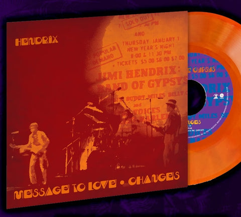 NEW - Jimi Hendrix, Message to Love / Changes Coloured RSD 7""