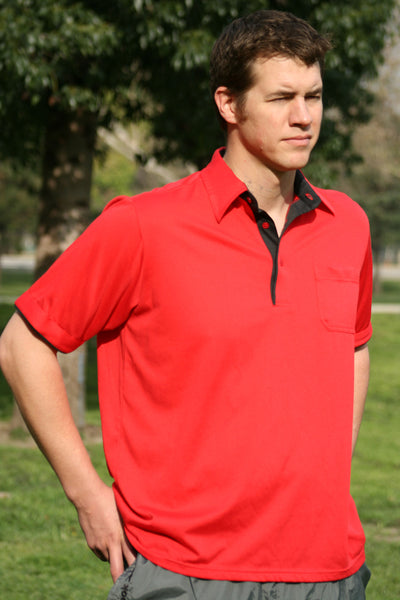 Model 1680M - Sunrise Classic Cut Placket Knit Trim Polo Shirt