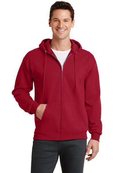 Custom Embroidered Zip-Up Hoodie Sweater 7.8 oz - 4in by 4in Embroidery Included