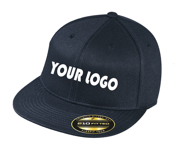 Custom Embroidered Flexfit 210 Flat Bill Cap
