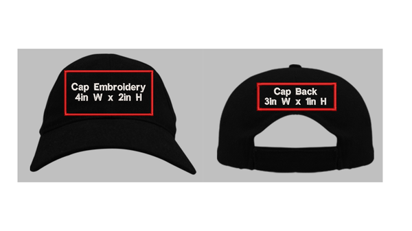Hat Front and Back Embroidery
