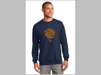 Reach by Larry Lurch Fagan - Custom Embroidery on Crewneck Sweater