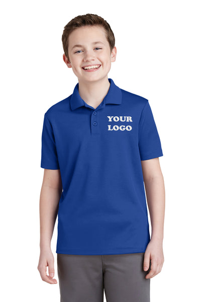 Custom Embroidered Youth Performance Polo Shirt -