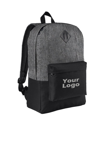 Custom Embroider Retro Backpack with 15in Laptop Sleeve
