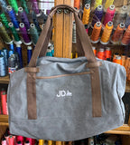 Custom Embroider Cotton Canvas Back Pack Weekender Duffle Bag - Personalize with your Logo or Text