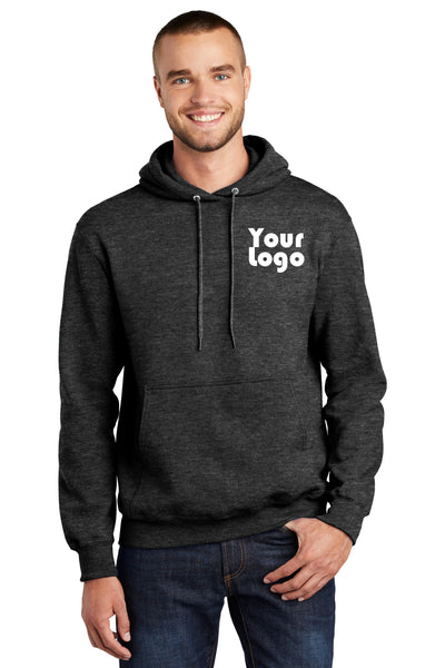 Custom Embroider Pullover Hoodie Sweater - Personalize with your Logo - 9.0 Oz 50/50 Cotton Poly Fleece