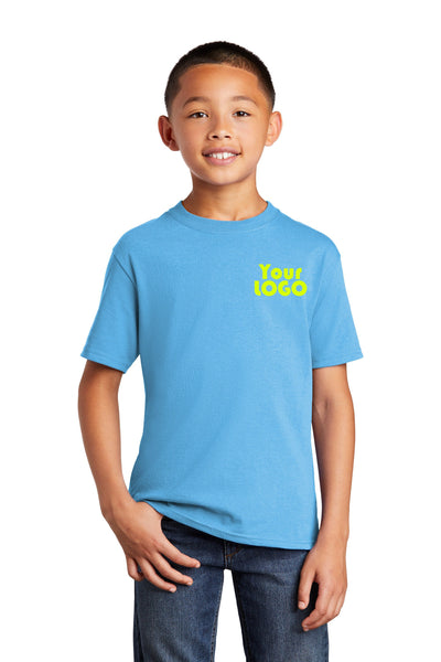 Custom Embroidered Youth Kids Sized T-Shirt Tees - Free Logo Digitizing