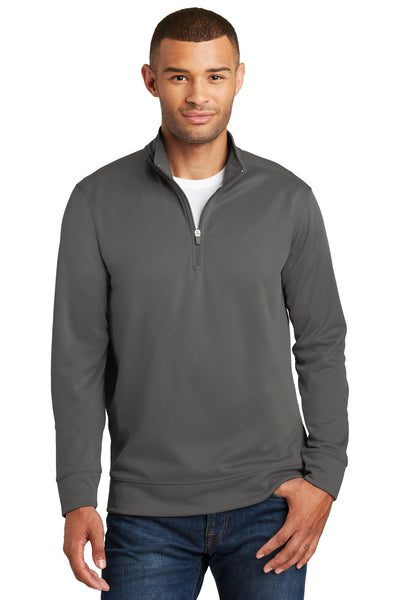 Custom Embroidery on Performance Fleece 1/4-Zip Pullover Sweatshirt - Includes one 4in x 4in Embroidery - Personalized Sweatshirt