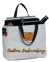 Custom Embroidered Port Authority Essential Tote Bag - Includes 4in x 4in Embroidery - No Setup