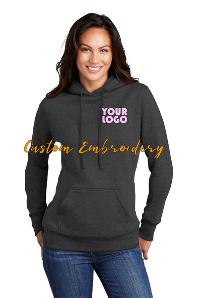 Custom Embroidered Ladies Hoodie Sweater - Includes 4in x 4in Embroidery - Personalized Ladies Hoodie