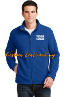 Custom Embroidered Men's Fleece Jacket - Midweight Fleece for everyday wear - Personalized Jacket - 4in by 4in Embroidery Included