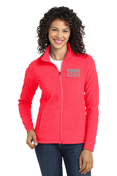 Custom Embroidered Ladies Micro-Fleece Jacket - Lightweight microfleece for everyday wear - Personalized Jacket - 4in by 4in Embroidery