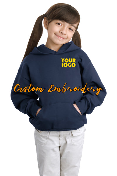 Custom Embroider Hanes EcoSmart Pullover Hooded Sweatshirt Hoodie - Includes one 4in x 4in Embroidery - No Setup - Personalized Hoodie