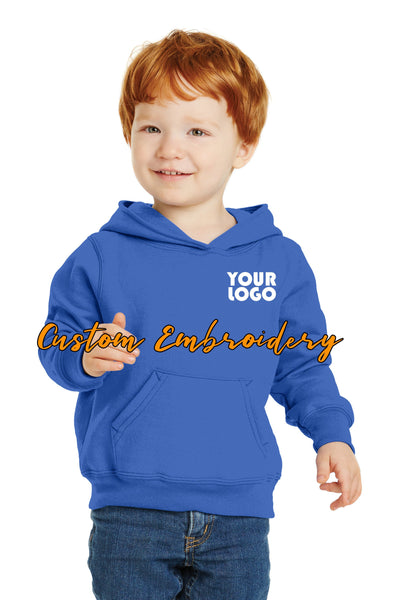 Custom Embroidery on Toddler Core Fleece Pullover Hooded Sweatshirt