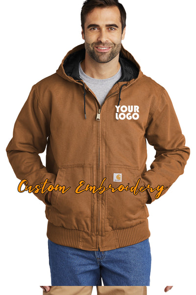 Custom Embroidered Carhartt Washed Duck Active Jacket - Includes 4in x 4in Embroidery - No Setup - Personalize your Carhartt Jacket Today