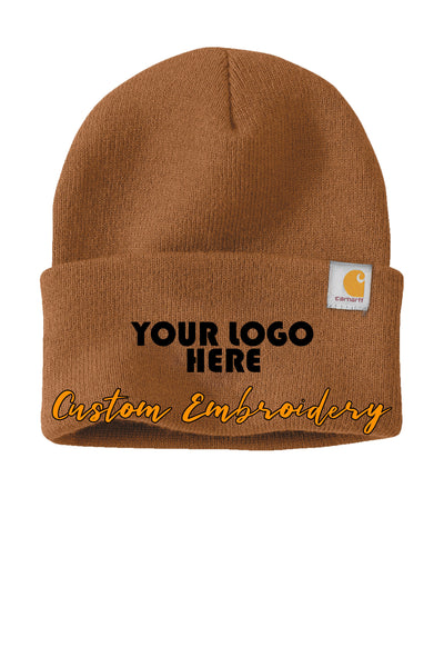 Custom Embroidered Carhartt® Watch Cap 2.0 Beanie - Includes 4in x 2in Embroidery - No Setup