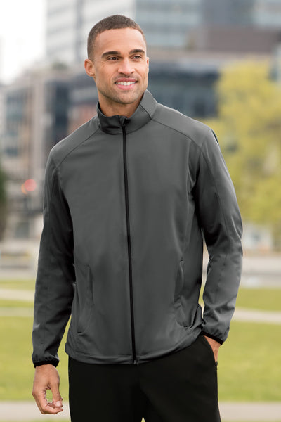 Custom Embroidered Men's Active Soft Shell Jacket - Includes one 4in x 4in Embroidery - No Setup - Personalize your Jacket with your Logo