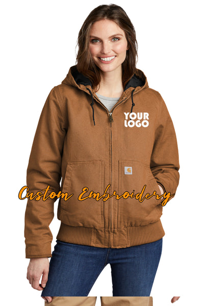 Custom Embroidered Carhartt Women's Washed Duck Active Jacket - Includes 4in x 4in Embroidery - No Setup