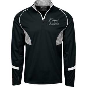 Evangel Basketball 1/4 Zip Pullover with Camo Inserts