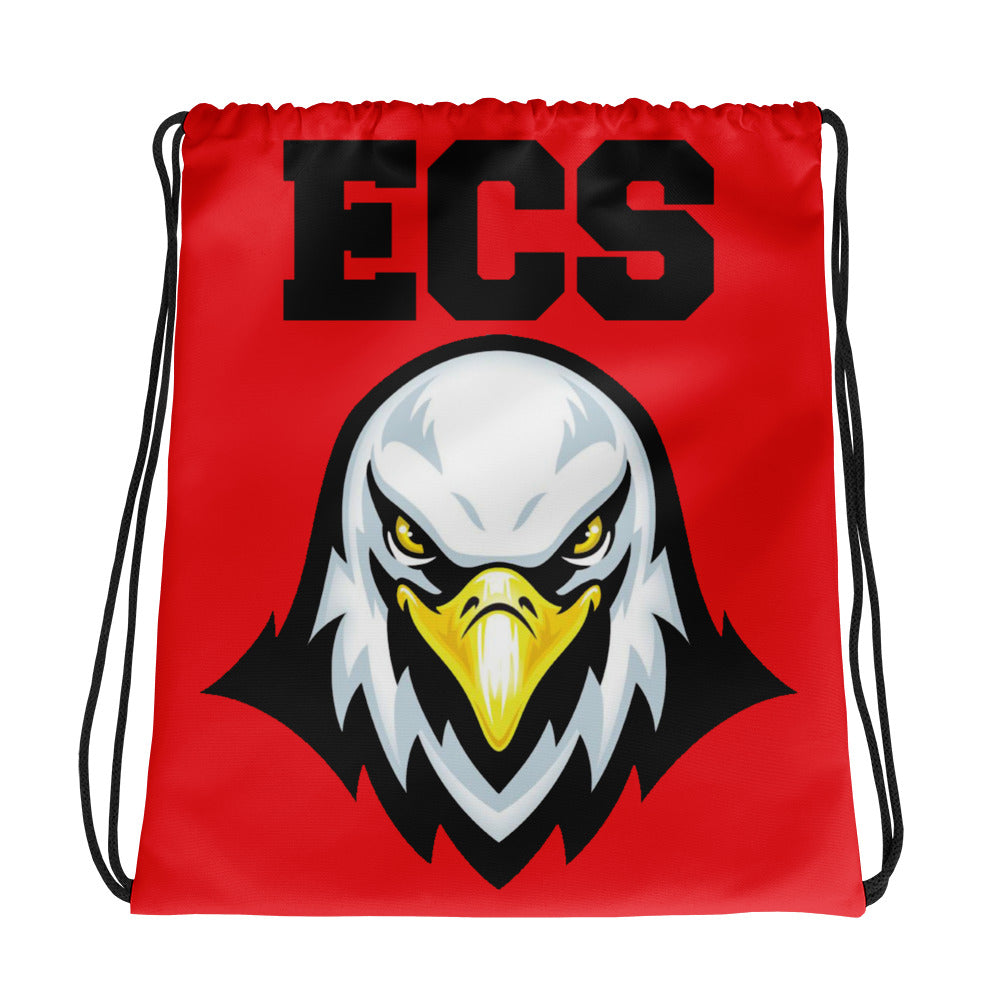 ECS Eagle Red Drawstring bag