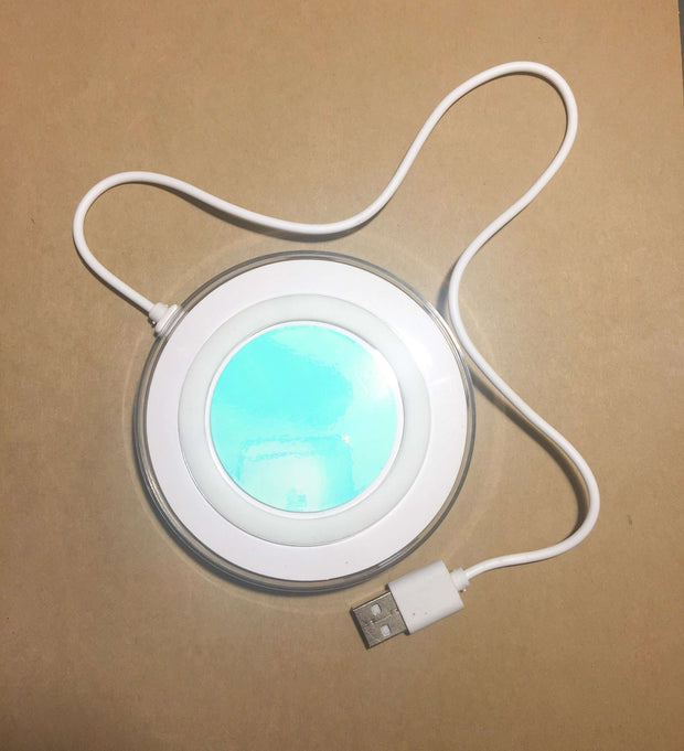 Qi Wireless White Unicorn Iridescent Charging Pad For Apple and Samsung