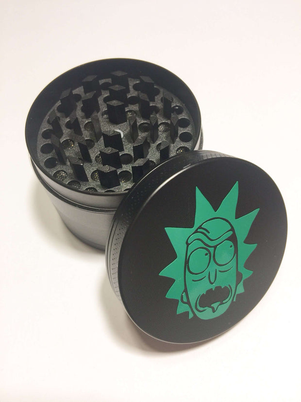 Herb Grinder 4 Piece 50mm Rick Green Spice Grinder W/ Cleaning Tool
