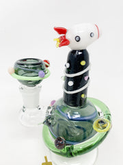 Empire Glassworks Rocket Ship Water Pipe/Dab Rig