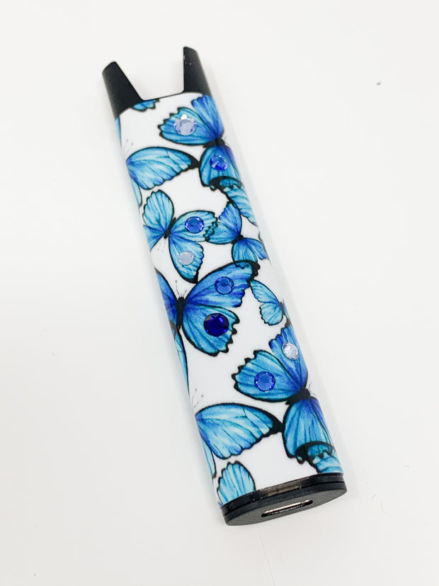 Stiiizy Pen Swarovski Blue Butterflies Battery Starter Kit