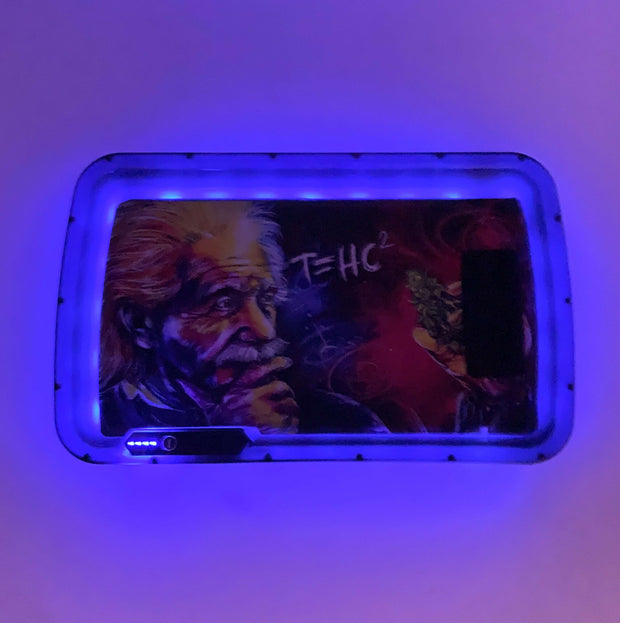 Einstein T=HC2  LED Rolling Tray Featuring 7 Colors and Party Mode