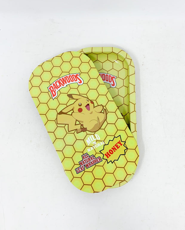 Backwoods Yellow Pikachu Magnetic Rolling Tray with Lid